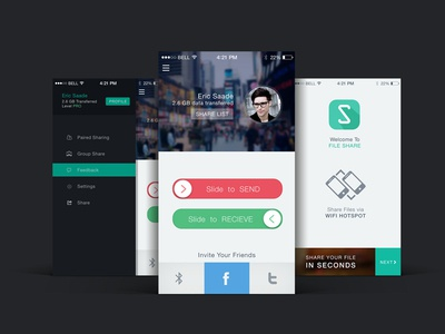 File Share app UI design