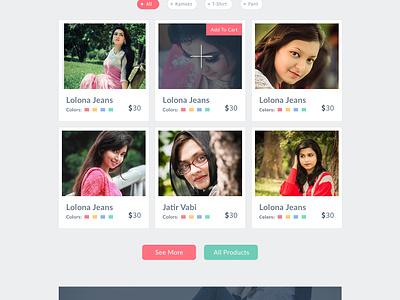 Pakhi E-commerce template (free PSD) pakhi flat e commerce web design clothing dress free psd freebie