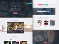 Pakhi E-commerce template (free PSD)