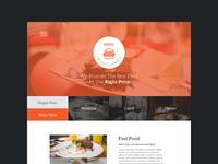 menu one page psd freebie