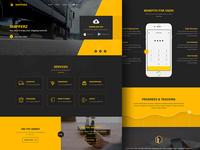 Shipping Website Concept Design