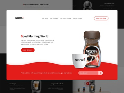 NESCAFÉ home page redesign