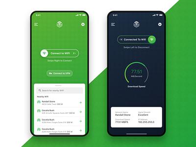 Connect to nearby Wifi search list vpn wifi app ios app design design ux minimal ui