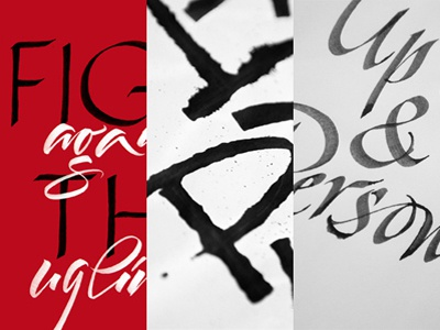 Calligraphy - Editorials & posters calligraphy calligrafia lettering letters typography brushpen handlettering tombow italic behance project expressive calligraphy