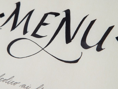 Calligraphy menù calligraphy calligrafia lettering letters typography type handlettering italic menu food english cursive