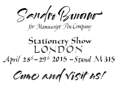 Stationery Show London calligraphy type typography letters lettering italic brushpen stationery london show manuscript