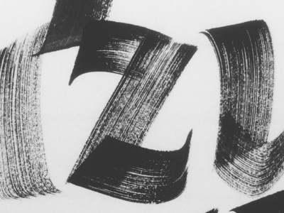 Bold Italic brush flatbrush ink lettering letters sandrobonomo italic expressive calligraphy