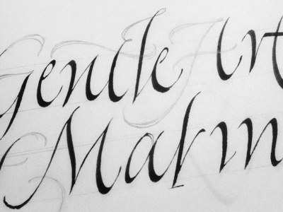 Sketches classic swoosh ink lettering letters black italic expressive calligraphy