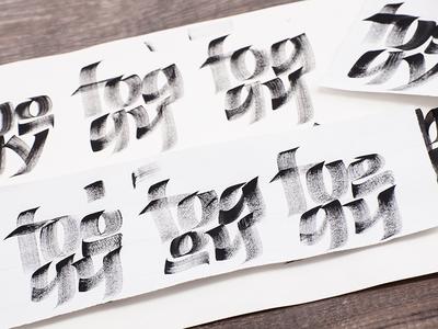 Foggy - sketch for calligraphy calendar flatbrush dry brush 2016 artwork calendar sketch calligraphy