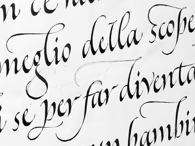 Italic sketch art italic calligraphy art quote typography lose yourself calligraphy handmade lettering type