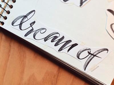 Dream of - sketchbook brushpen pentel dream sketch sketchbook calligraphy art quote typography calligraphy handmade lettering type