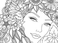 Floral Lady Portrait