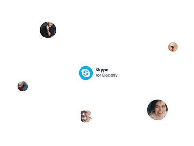 Skype for Elderly – prototype ux design ui design skype motion design after effects animation after effects aftereffects animation webflow prototyping prototype