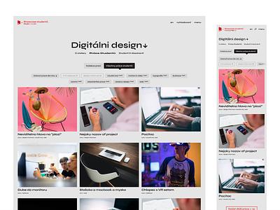 UI Design for Art School Website webdesigner webdesign web design ui designer interaction webflow user experience user inteface ux design prototyping design uiux ui ui design