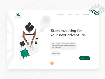 Robo-Advisor financial platform website finance chat bot after effect animation