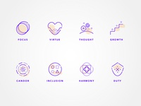 Company Values Icon Set