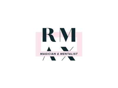Logomark for a Magician magician pink bold minimal clean brand identity logo logomark