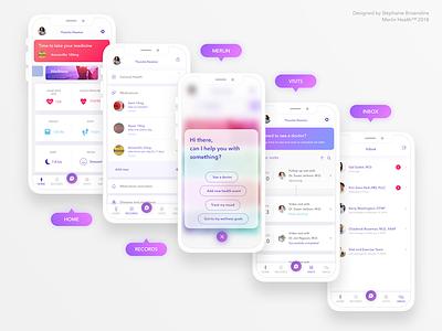 Health App | Telemedicine | Conversational UI iphonex ios modern fresh ux ui mobile app health telemedicine conversational