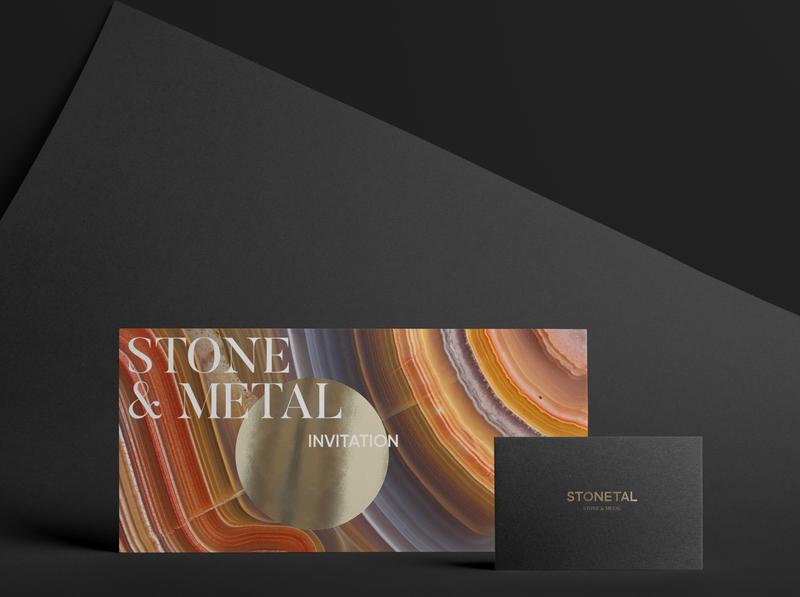 Naming, logo & identity for the STONETAL jewelry brand. card stone type illustrator typography icon logo art jewelry