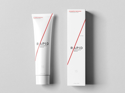 Logo, identity system and packaging for RAPID by Montcarotte Med packaging package branding design brand design brand medicine medical redesign logo design logodesign logotype logo design branding art