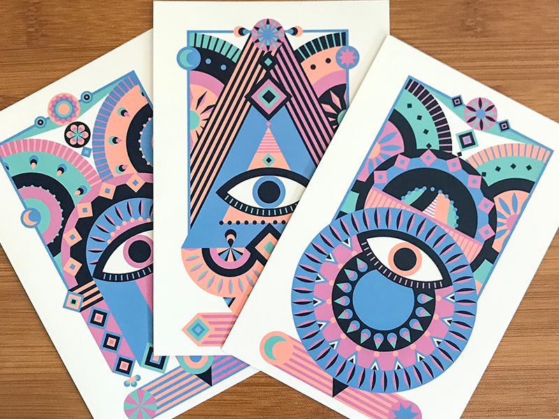 Third Eye Awakening Postcard by Emma (You) Zhang | Dribbble | Dribbble