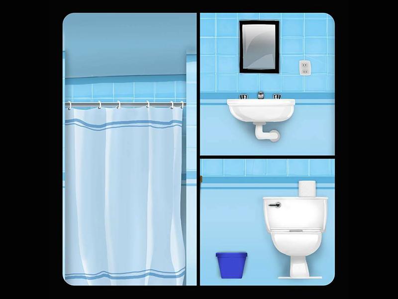 Bathroom Game Background By Fernando Salcido On Dribbble