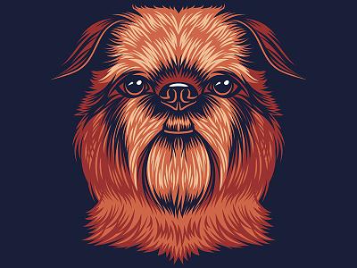 Brussels Griffon Illustration for Golden Doodle Goods™ animal art graphic tee puppy fur vector vector illustration dog illustration animal lover animal dog lover dog brussel griffon