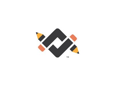 Lance LeBlanc Logo Concept symbol mark l crop mark pencils initials logo