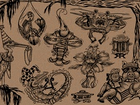 Cajun Jam Box Illustration