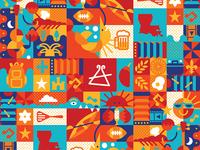 Cajun Festival Icon Pattern