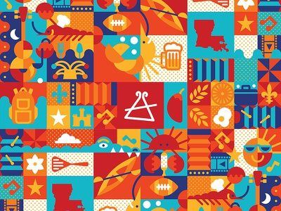 Cajun Festival Icon Pattern acadiana cajun country lafayette louisiana graphic cajun pattern icon festival
