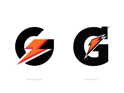 Gatorade Logo Redesign lightning bolt g letter brand and identity gatorade rebrand redesign logo brand