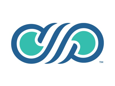 Cool Pools Logo concept letter p letter c breeze acronym swimming pool logo design branding mark identity logo pools cool