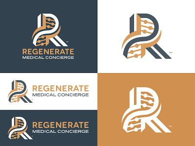 Regenerate Medical Concierge medical logo logotype health healthcare medical r logo brand identity brand design brand design logo