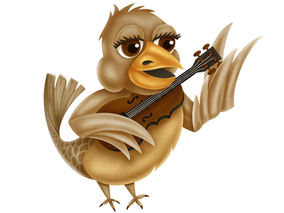 Cajun Tweety Sweetie feather nature culture music violin tweet illustration bird fiddle cajun