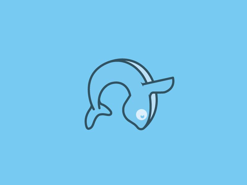 Whale mark v2 whale icon branding logomark killer whale blue breach orca whale logo whale