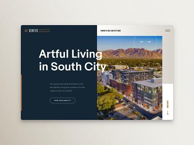 Bowers Web Design website south city salt lake residential apartments residence landing page ui ux web bold website modern website homepage website design web design