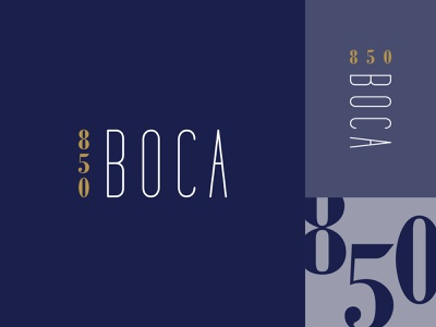 850 Boca Identity classy boca raton luxury logo suite brand mark identity logo branding