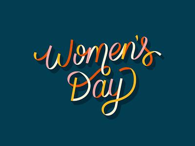 International Women's Day celebrate women custom script lettering ribbon international womens day womens day women empowerment women