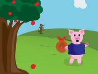 Run, little pig!