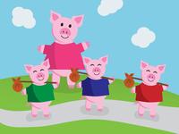 Bon voyage, little piglets!
