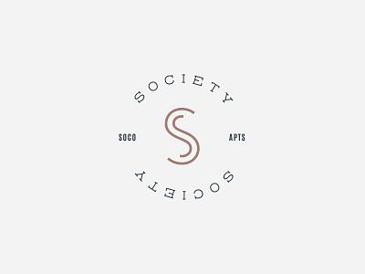 Society SoCo Logo apartments sophisticated clean lettermark symbol branding brand mark identity logo