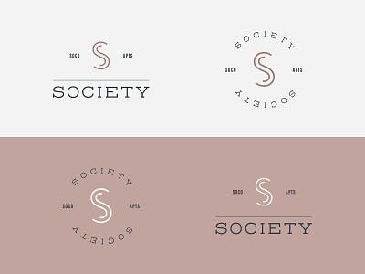 Society SoCo Logo society apartments sophisticated clean symbol brand mark identity logo branding