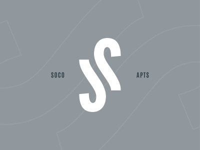 Society SoCo apartments concepting lettermark symbol brand mark identity logo branding