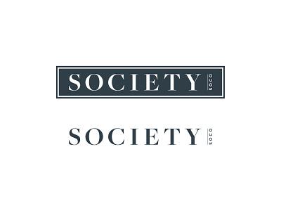 Society SoCo wordmark brand identity identity mark brand branding logo