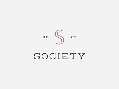 Society Logo emblem apartments brand mark identity logo branding