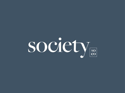 Society Logo apartments logotype custom wordmark identity branding brand logo