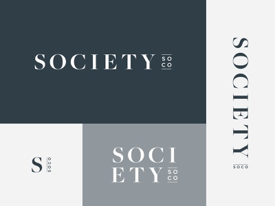 Society SoCo — Final Logo Suite blue apartments brand identity branding logos sophisticated emblem mark badge suite logo