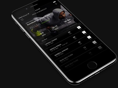 Analytics - 018 tracker weightlifting workout ui design ui ios iphone 7 sketch daily ui