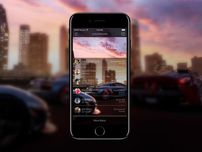 Leaderboard - 019 concept xbox racing forza leaderboard ui design ui ios iphone 7 sketch daily ui